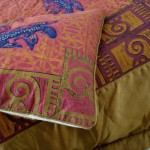 Queensize Quilted Satin Goanna Bed cover detail