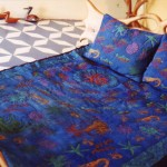 Queensize Quilted Satin Sea Bed cover