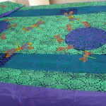 Green Queensize Doona cover & 2 pillowcases