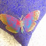 Purple Butterfly Cushion detail