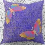 Purple Butterfly Cushion