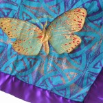 Quilted Satin Butterfly Wallhanging detail