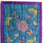 Quilted Satin Butterfly Wallhanging
