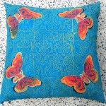 Turquoise Butterfly Cushion