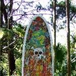 Skull Surfboard front-Mick Ward