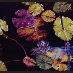 Waterlilies & Dragonfly-gouache on paper